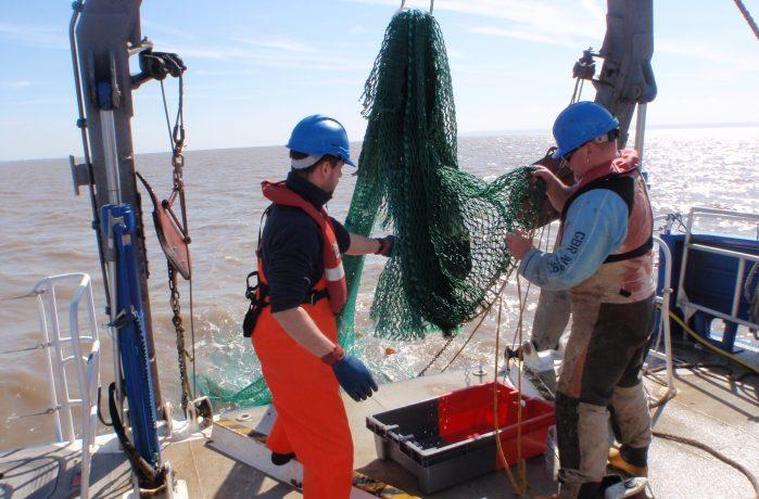 Crew of survey vessel