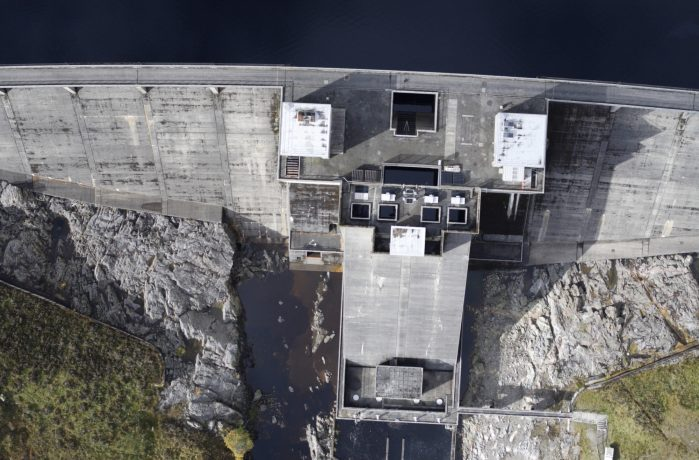 aerial vier of a dam
