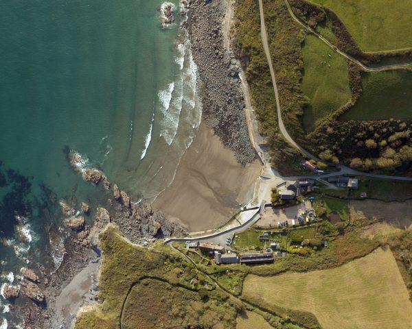 High resolution aerial survey image of Cornwall coast for Leica calendar