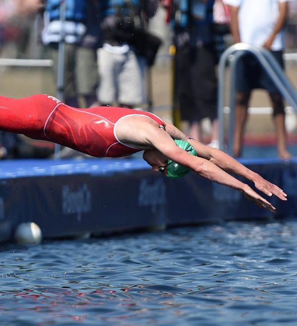 Glasgow Commonwealth Games: triathlon swim at Strathclyde Loch