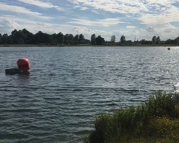 Triathlon swimming lake at Trifarm, Essex