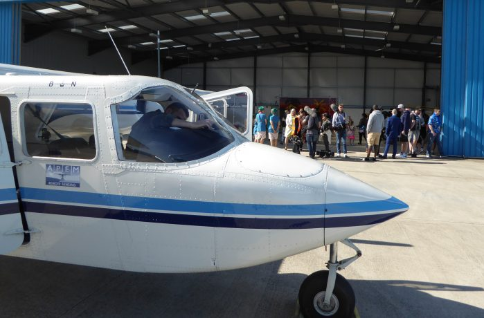 Survey aircraft with CBBC crew