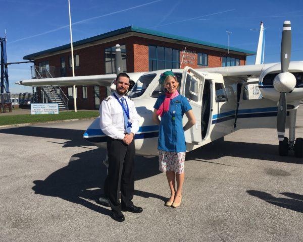 APEM pilot Ben Chapman with CBBC presenter