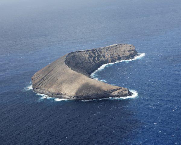 Aerial view of Kaula island, Hawaii