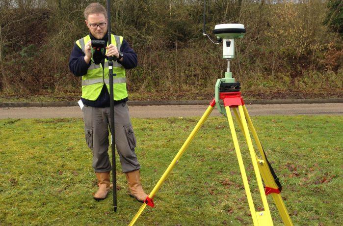 APEM remote sensing scientist Mark Jowett on a ground-truthing survey.