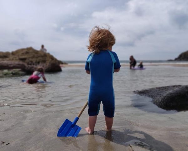 child on the beach